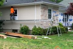 In progress residential siding